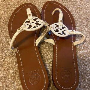 Tory Burch Croc Skin Sandals